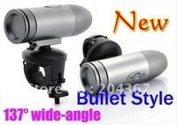 New 720P Waterproof Outdoor Action Helmet Sports Diving Camera RD36 Bullet shape Mini cam DVR