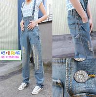 Suspenders jeans women jeans