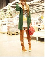 Free shipping 2012 sexy  big size  department take, rivets, high with, fashion, knight tall canister, women  winter boots 34--43