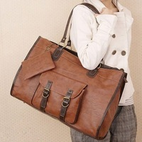 Free Shipping GK Large Faux Leather Handbag Shoulder Messenger Bag Women Tote BG46