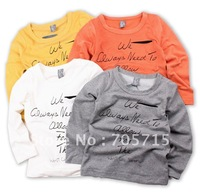 Retail Free shipping 2013 Spring & Autumn Hot Sale Brand 100% COTTON children clothing,children T-shirt,kids shirt
