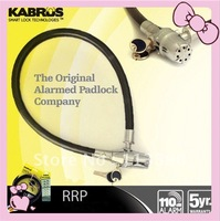 free shipment  hot sell ! 10%discount  motorcycle 20*80cm alarm cable lock padlock alarm