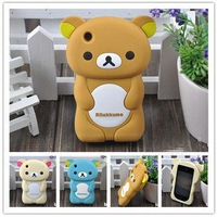 Hot Sale Rilakkuma Lazy Bear Case,Top Quality Latest Style 3D Rilakkuma TPU hard Case For Iphone 4g 4s
