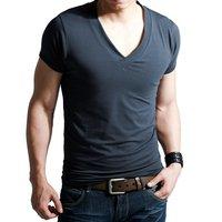 Sexy deep v neck super cool high-elastic slim t-shirt st-610