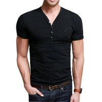 Super soft water wash high-elastic lycra cotton slim comfortable type male short-sleeve T-shirt kdt-204