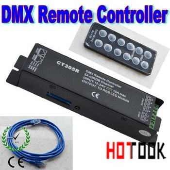 Wholesale IR RGB Controller DMX512 / 1900 constant decoder DC12-24V 15A 5A*3 channel LED Light CT305R x 30pcs - ship by express