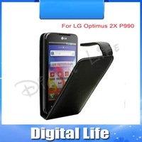 Leather Case Cover Pouch Flip Case for LG Optimus 2X P990 Cell Phone---Free Shipping