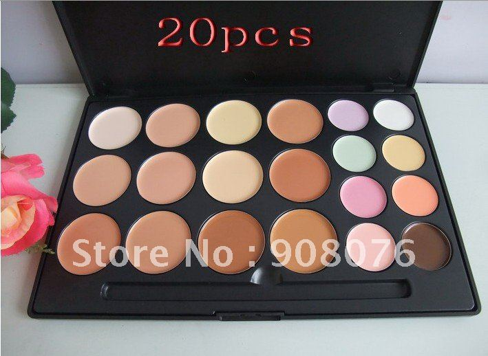 Best selling! 20 Color Concealer Camouflage beauty product Makeup Set 1pcs Free shipping(China (Mainland))