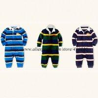 2012 NEW Baby Gentleman One-Piece & Rompers Long sleeve Romper ,baby Autumn winter Teddies wholesale