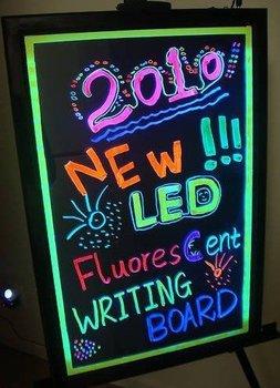 "16""x12"" Flashing Illuminated Erasable Neon LED Message Writing Board Menu Sign"