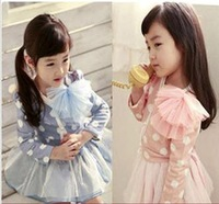 Платье для девочек Children's clothing kids clothes Pastoral print dress girl's dress girl's clothing #M12384