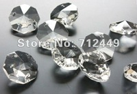14mm Octagonal Crystal Beads, Transparent Color, DIY Crystal Garland Material, Wedding & Home Decoration, Free Shipping CB01