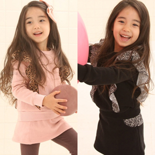 Wholesale baby girls Leopard print coat+culottes set outwear summer  childrens beautiful  suit c ... accept paypal