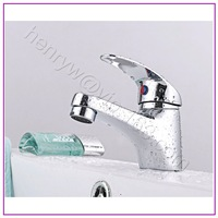 Retail-Luxury Brass Basin Faucet, Deck Mounted Basin Mixer, Single Lever Basin Tap, Chrome Finish, Free Shipping XR12515