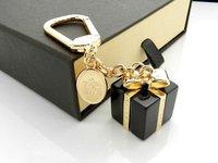 Free Shipping Fine Bag Charms KeyChain Brand Bag Ornament Super Quality Cute Gift Original Package #LO-VU003