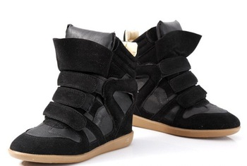 Wholesale and retail! 2012 New Free shipping lady's women's Isabel Marant multicolour Wedge Sneaker casual shoes Boot