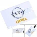 Credit Card Style USB 2.0 Flash Drive U Disk 4GB/8GB/16GB/32GB Memory - OPEL Pattern