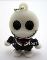 4GB 8GB 16GB 32GB Ghost Head Jack Shape USB 2.0 Flash Memory Stick Pendrive Keychain