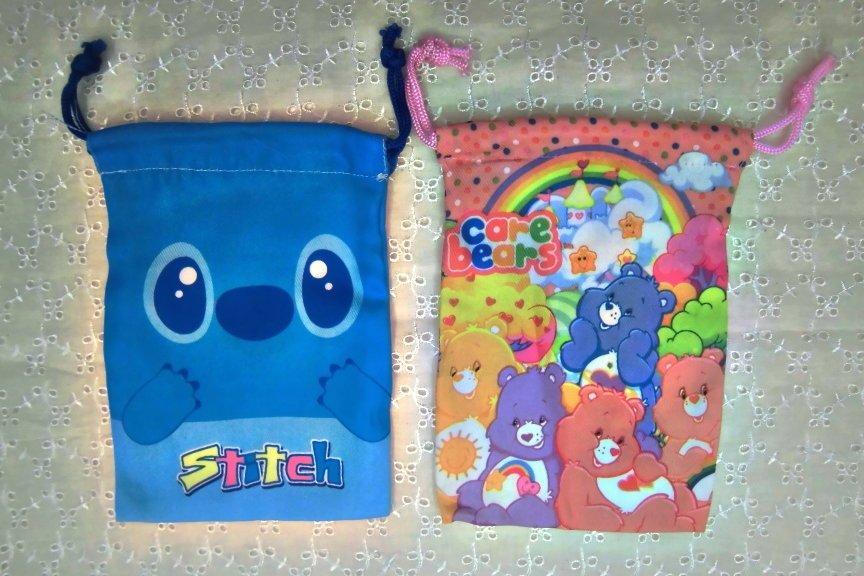 Cute Cartoon Fabric Loot bag cell phone tote drawstring bags 14*19cm(China (Mainland))
