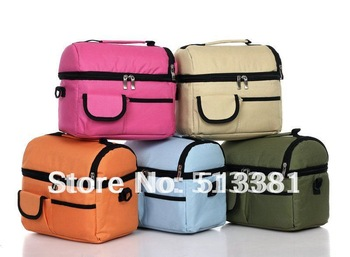 Wholesale-14pcs Fashion Mummy Bags Multifunctional Cooler Bags(14 colors)/Thermal Bags 8L 2 Layer Insulated Bags