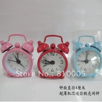 Creative novelty mini alarm clock hot wholesale diameter 4cm