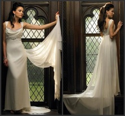 Simple Style dress,Custom Plus Size,Color 2012 New Style,amazing wedding prom A-line Strapless Court Train Embroidered Beaded(China (Mainland))