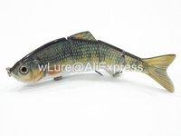 Fishing Lure 4 Segment Swimbait Crankbait Hard Bait Fresh Water Shallow Water Bass Walleye Crappie HS4 Fishing Tackle HS4X381