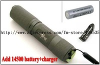 TrustFire S-A1 Cree XP-E R2 5-Mode 180Lumens LED Flashlight(1 x 14500/AA)+1*14500 battery+charger