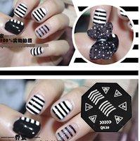 """Nail Art Stamp Stamping Image Template Plate Zebra grain series  ""QA30     nail stamp plate"