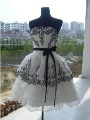 The bride theme dress serve black dress embroider bridesmaids toast costumes chorus dress