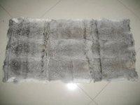 Free Shipping, Natural Grey Rabbit Fur Plate