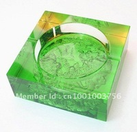 Square crystal ashtray for house use and office use