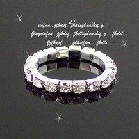 Wholesale Single Row Crystal Rhinestone Ring Imitation CZ Diamond Elastic Toe Rings 36pcs/lot Free Shipping