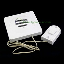 New Battery Powered Wired Electronic Door Bell White With Press Button Panel