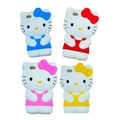 Wholesale Brand NEW 3D Cute Soft Silicone Hello Kitty Case Cover Skin For iPhone 4 4S,EMS Free Shipping 30pcs/lot