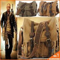 Free Shipping 2013 Laptop Bag  Military Messenger Bag Fashion Men Shoulder Canvas Bag QSM02