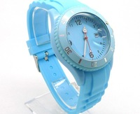 Freeshiping+Factory Wholesales 12pcs/lot,fashion Sili Forever Silicone Watches Calendar+5 Colors Available