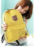 Рюкзак 2012 new fashion Hedgehog PU leather cartoon Travel backpack satchel school casual leisure sport bag160126