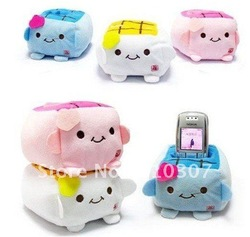 Cell Phone Holder Cute Tofu Mobile Phone Seat Stand New Fashion Design Multi Color Super New Arrival Freeshipping 200 pcs(China (Mainland))