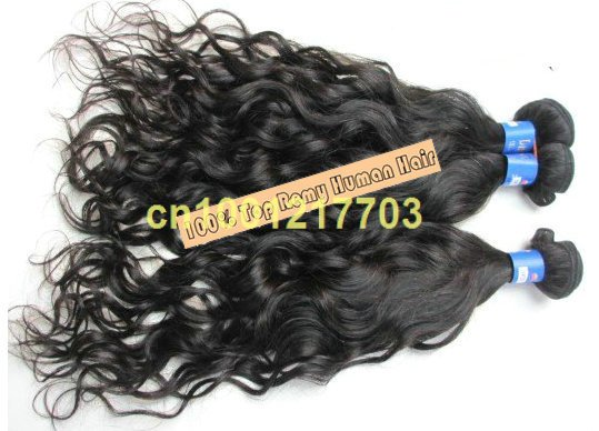 free shipping long hair 24&quot; Italian wave 5bundles/lot 100% Indian human remy hair extension hair weft(China (Mainland))