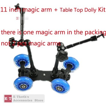 "WHOLESALES FOR Table Top Dolly Kit 11"" Magic Arm Skater Wheel Truck Stabilizer For 5D2 7D"