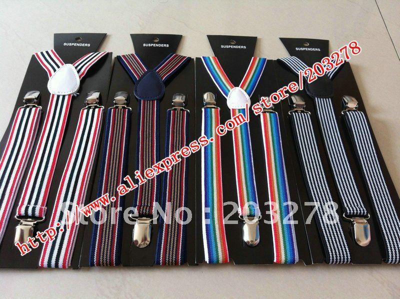 braces suspenders Mens neon fancy dress Adjustable Y-back Elastic Belt ...
