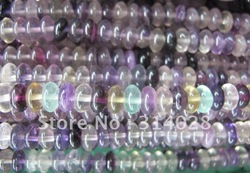 Fashion jewelry beads Purple Fluorite 5*8mm roundel stone jewelry beads.400cps/lot.80beads/string.Free shipping(China (Mainland))
