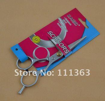 Free Shipping Hairdressing/haircut Scissors Professional pet scissors  comfortable handle  wholesale 50pcs/lots