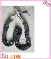 free shipment  hot sell motorcycle chain alarm lock 8*100cm alarm chain lock