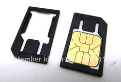 for 4 Mobile CELL PHONE Micro Sim Card Standard precise microsim Card Adapter Standard Cut Converter(China (Mainland))