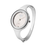 White NEW Fashion Silver Charming Women Quartz Wrist Watch Bracelet-FX755