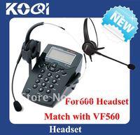 Freehipping Caller ID Telephone with Telephone Headphone call center telephone headset nice earphone