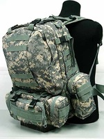 US Tactical Molle Assault Backpack Bag Digital ACU Camo free ship