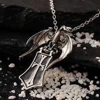 gothic cross shelter pendant necklace